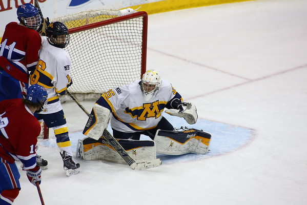 The Mahtomedi Zephyrs defeated the St. Cloud Apollo Eagles in the 2015 MSHSL Class A Boys' Hockey consolation game. Photo Credit: Rick Corwine/The Minnesota Sports Report