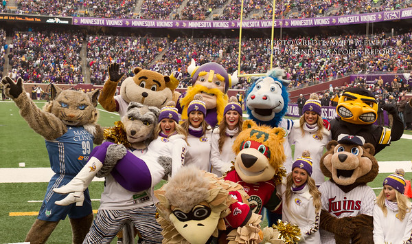 The Minnesota Vikings defeat the New York Jets 30-24 on an 87 yard TD reception by Jarius Wright in overtime at TCF Bank Stadium in Minneapolis, Minnesota on December 7, 2014 in front of 52,152 fans.